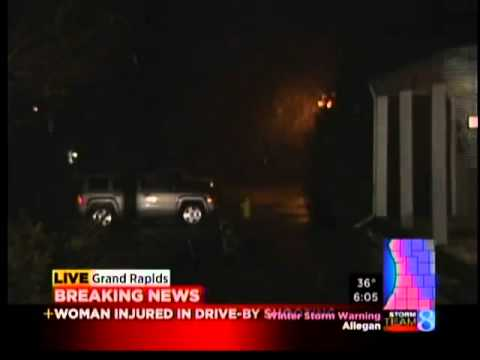 Young woman shot in GR drive-by