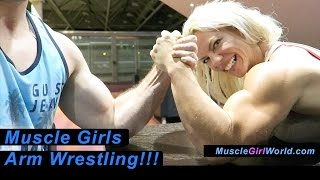 Muscle Girls Arm Wrestle Complilation