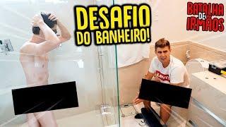 BATALHA DE IRMÃOS: DESAFIO MAIS DIFÍCIL DO BANHEIRO!! [ REZENDE EVIL ]