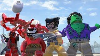 Hulk(Transformation) Vs Carnage / Deadpool Vs Wolverine - Lego Marvel Super Heroes Game