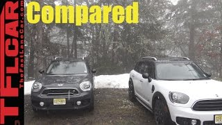 2017 Mini Cooper Countryman  vs Cooper S Countryman Mashup Review