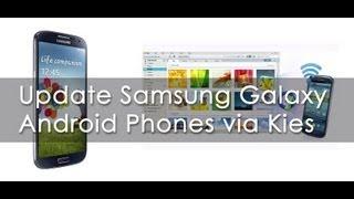 Update Samsung Android Phones via Kies Software - Geekyranjit