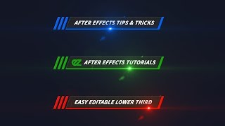 How To Create A Color Line Lower Third, After Effects Tutorial & Template