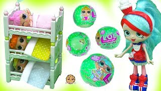 Bunk Bed Babies - LOL Surprise Baby Lil Sisters Color Change + with Shopkins Shoppies Doll