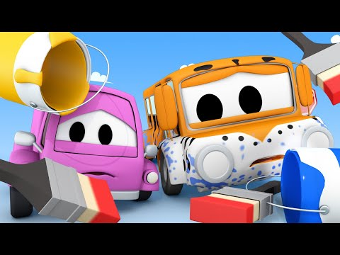 Xxx Mp4 Tom The Tow Truck S Car Wash Suzy And Lily Get Painted Car City Trucks Cartoon For Kids 3gp Sex