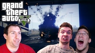 GTA 5 Online With Markiplier and Jacksepticeye Part 3: TANKS, MISSILES, AND DEATH!!!!