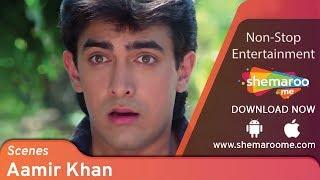 Best Aamir Khan scenes from Dil #2 - Madhuri Dixit  - Blockbuster 90