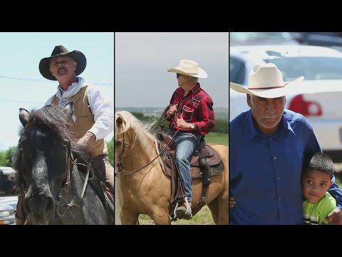 Muchos vaqueros son hispanos que trabajan de sol a sol