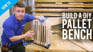 How to make a DIY pallet bench