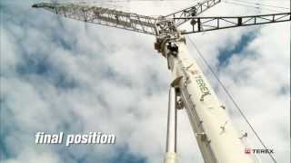 Terex AC 350-6 Patented luffing jib rigging procedure.