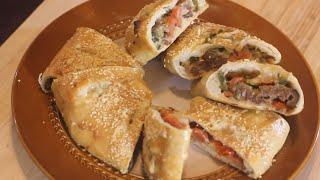 سترومبولي/ خبز البيتزا الملفوفة | بيتزا رولي Stromboli Recipe