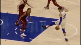 Ben Simmons shows off his handles with crazy between-the-legs move vs Cleveland!