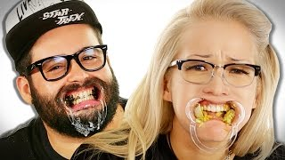 Coworkers Big Mouth Eating Challenge