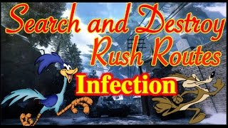 SnD Rush Routes B03! Infection! Bomb spots, Tips + Tricks