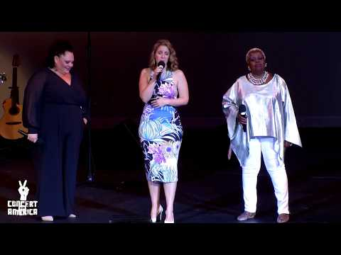 Jessie MuellerKeala SetlleLillias White sing Natural Woman at Concert For America