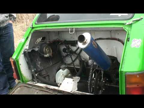 Powtórka z Azotów Fiat 126p silnik CBR
