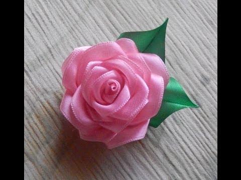 Розу из ленты видео
