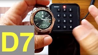 No.1 D7 Android Smartwatch: NFC Demo & Battery Life