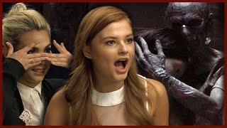 INSIDIOUS 3 - Stefanie Scott & Hayley Kiyoko's Scary Moments on Set!
