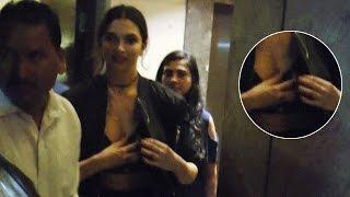 SEXY Deepika Padukone ADJUSTING Dress | Uncut Video