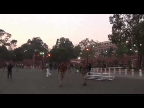 Raw: Gang Rape Protesters Clash With Police