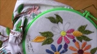 Entertainment - Embroidery works - Wine stitch flower designs