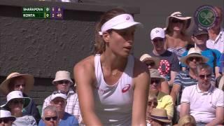 Maria Sharapova 1R - Wimbledon 2015 Highlights