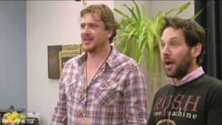Jason Segel & Paul Rudd Meet Rush