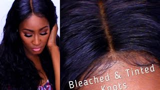 HOW TO: Master Bleaching and Tinting the Knots on Lace Closures/Frontals FAIL PROOF | Shlinda1