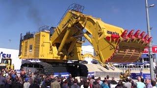 Giant Komatsu PC7000-6 Front Shovel Mining Excavator Demo @ Bauma 2016