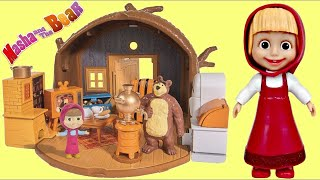 MASHA and the BEAR Маша и Медведь ( e Orso) Portable House, Cartoon SHOPKINS Toy Surprises / TUYC