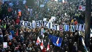 23.01.2017 - Proteste gegen ENF-Kongress in Koblenz