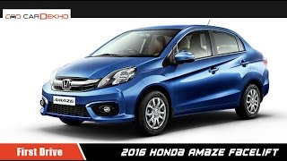 2016 Honda Amaze Facelift | First Drive  Review | CarDekho.com