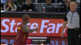 Isaiah Thomas gets Technical Foul in first minutes for the Cleveland Cavaliers