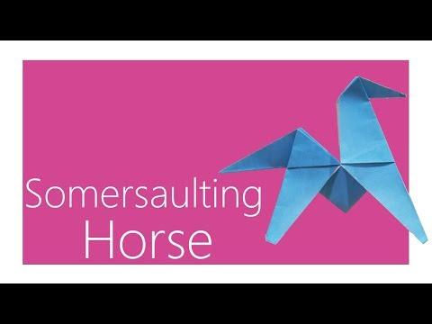 Somersaulting Horse Origami Tutorial (Traditional Model)