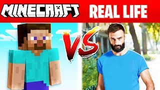 MINECRAFT STEVE IN REAL LIFE! (Minecraft vs Real Life)