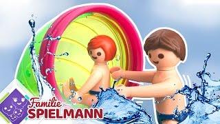 Wem wird übel ? ANACONDA und GALAXY SPIN - die heftigen Attraktionen im Playmobil Aquapark