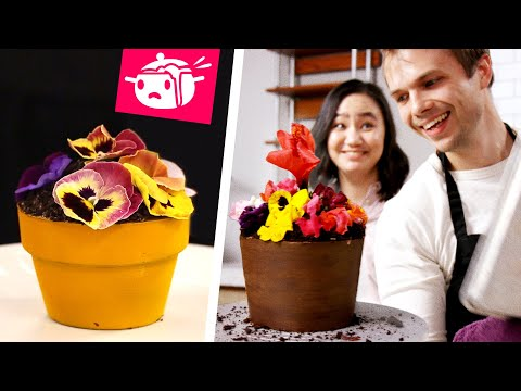 We Tried To Re Create This Flower Pot Cake • Eating Your Feed • Tasty