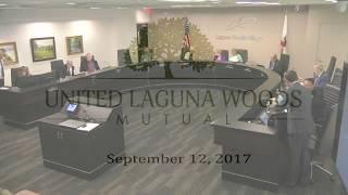United Laguna Woods Mutual Board Meeting Update 09/12/2017