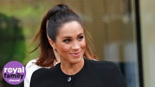 Duchess of Sussex surprises students in London