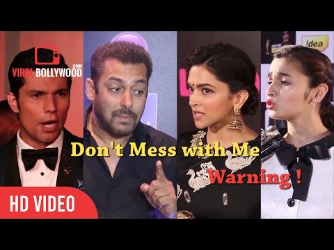 Bollywood Celebrities Losing Thier Temper | Angry Salman Khan, Deepika, Alia, Aishwarya & Many....