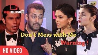 Bollywood Celebrities Losing Thier Temper   Angry Salman Khan, Deepika, Alia, Aishwarya & Many....