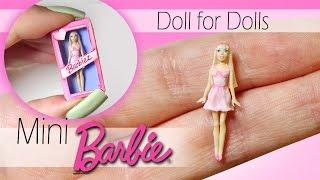 Miniature Barbie Tutorial // DIY Dolls/Dollhouse