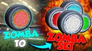 TRADING FROM ZOMBA TO THE ZOMBA SET EP7! - ROCKET LEAGUE
