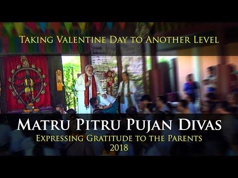 Xxx Mp4 Matru Pitru Pujan Divas Expressing Gratitude To The Parents 2018 3gp Sex