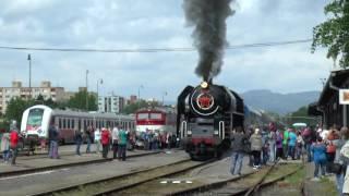 Vlaky: parný rušeň 475.196 - Prievidza máj 2016