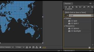 How the planet Earth is going on Adobe After Effects CS6