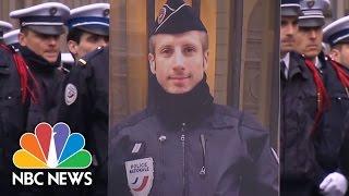Slain French Police Officer's Life Partner Gives Moving Eulogy | NBC News