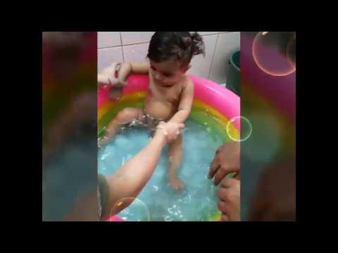 Vidhaan | Cute Kid, 1 year old | Fun time | in bath tub | India
