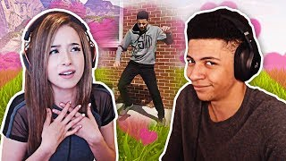 Myth Reacts to Pokimane Watching Him Dance! | Fortnite Best Moments #16